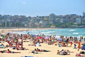 photo of a lot of people on the Manly Beach
