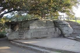 picture of a rock cut of Mrs Macquarie's Chair