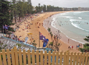 photo of Manly Beach shoreline in Sydney, Australia