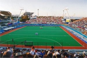 picture of a soccer stadium at Sydney Olympic Park